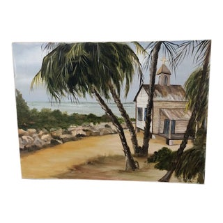 Vintage Seascape Painting on Canvas For Sale