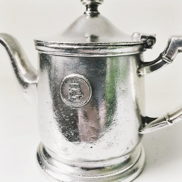 A beautiful vintage c. 1947 silver plate teapot from the famous Mayflower Hotel in Washington DC! In excellent condition,...