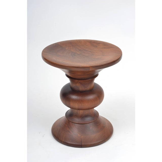 Mid-Century Modern Vintage Eames Walnut Time Life Stool Model B, Circa 1960s For Sale - Image 3 of 11