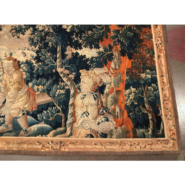 18th Century French Aubusson Tapestry With Cherubs at Play For Sale - Image 4 of 12