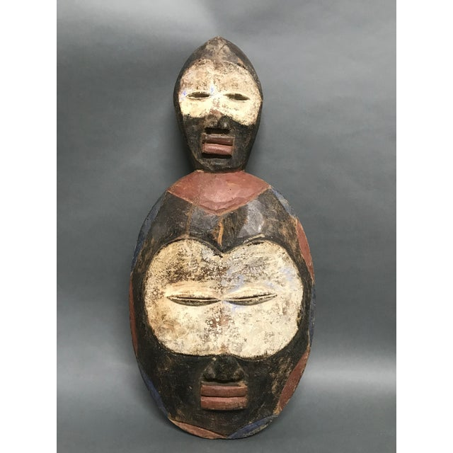 Wood African Tribal Art Kwele Mask For Sale - Image 7 of 7