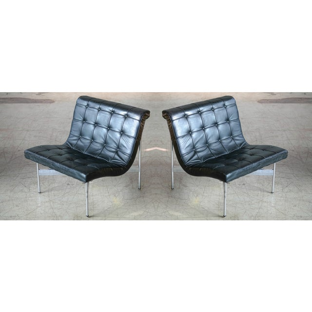 Silver Pair of Original 1950s New York Lounge Chairs by Katavolos, Littell and Kelley For Sale - Image 8 of 8