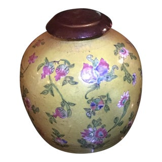 Antique Yellow Glazed Chinese Vase For Sale