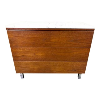 Knoll Dresser with Carrera Marble Tops For Sale