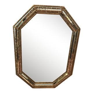 1970s Hollywood Regency Octagonal Wall Mirror For Sale