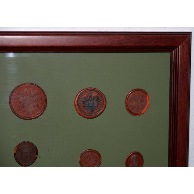Traditional Fine Collection of 19th Century Wax Seals For Sale - Image 3 of 12