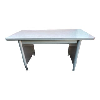 Vintage Mid Century Modern Metal Writing Desk For Sale