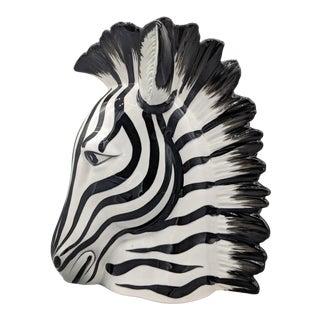 Vintage Fitz and Floyd Zebra Head Vase For Sale