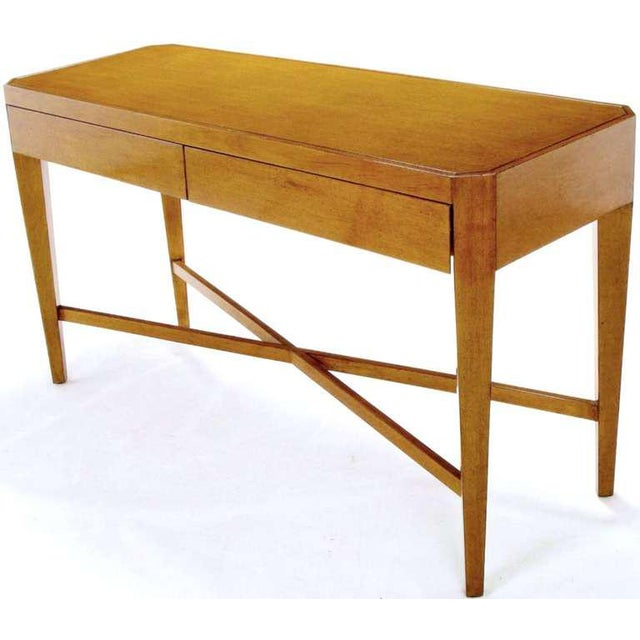 Nancy Corzine Nancy Corzine Glazed Maple X-Based Art Moderne Console Sideboard For Sale - Image 4 of 11