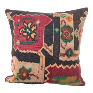 Antique Caucasian Kilim Pillow Cover For Sale
