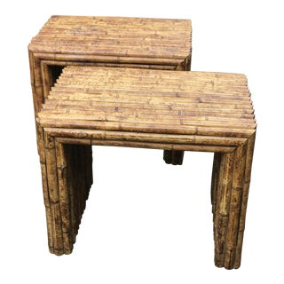 Vintage Bamboo End Tables - A Pair