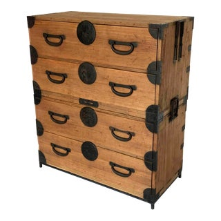 19th Century Japanese Tansu, Chest of Drawers For Sale