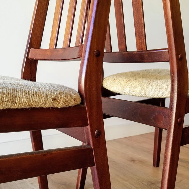 Danish Mid-Century Modern High Back Dining Chairs - Set of 8 For Sale - Image 9 of 13