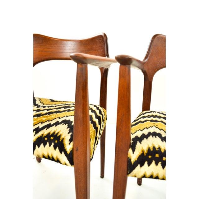 Mid-Century Modern Danish Teak Arm Chairs - A Pair - Image 9 of 10