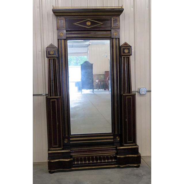 Gold Antique Russian Cheval Mirror For Sale - Image 8 of 8