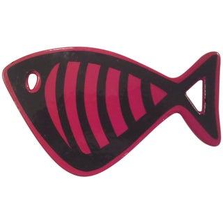 Danish Enameled Iron Fish Trivet