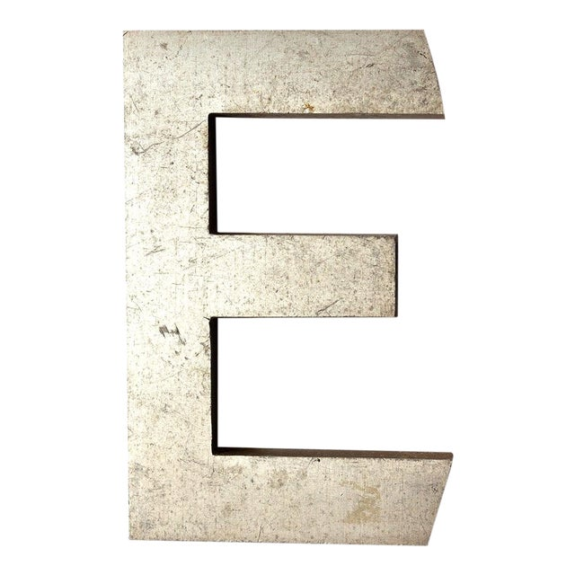 Industrial Salvage Small Letter E For Sale