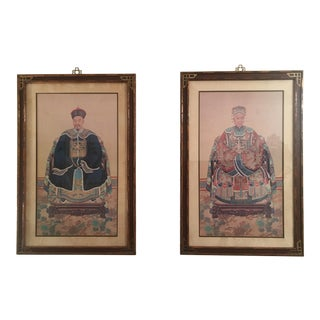Mid 20th Century Chinese Ancestral Portraits - a Pair For Sale