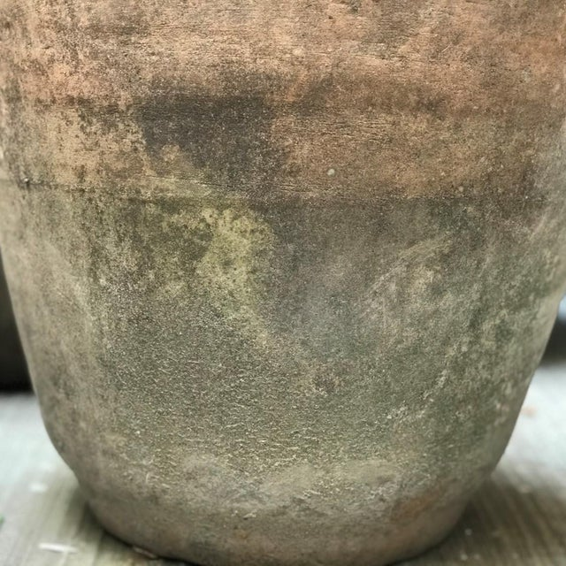 Tall Vintage Terracotta Vessel from Mexico For Sale - Image 4 of 6