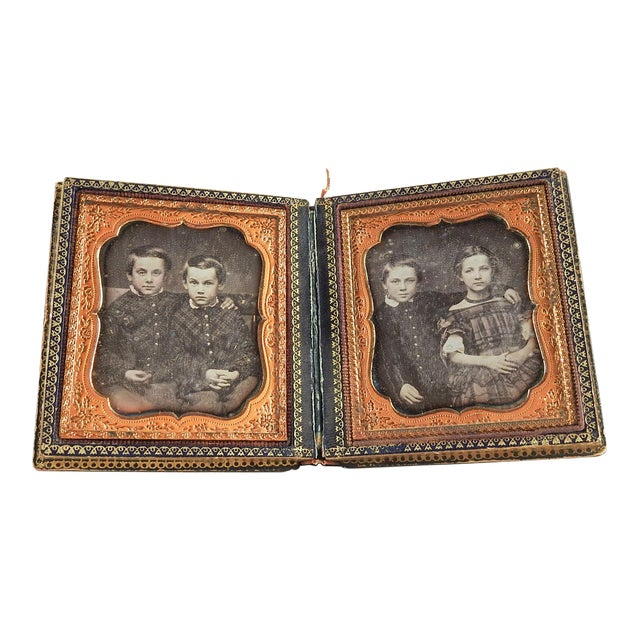Mother of Pearl & Silver Inlay Daguerreotype Case - Image 1 of 6