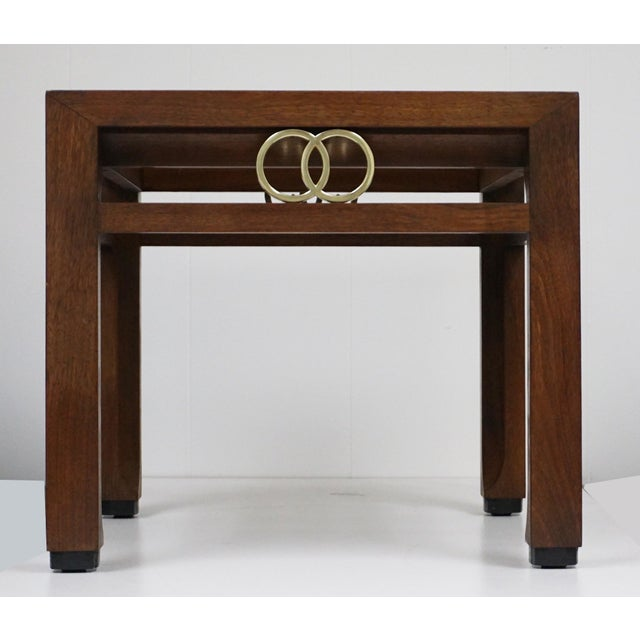1950s Far East Brass Ring Gucci Style Side Table For Sale - Image 5 of 5