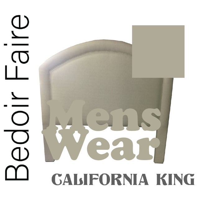 """Contemporary Custom to Order """"Bedoir Faire"""" Collection Headboard Menswear Hues For Sale - Image 3 of 13"""