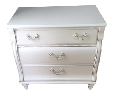 1980s Traditional Young America For Stanley Furniture White Bacheloru0027s Chest