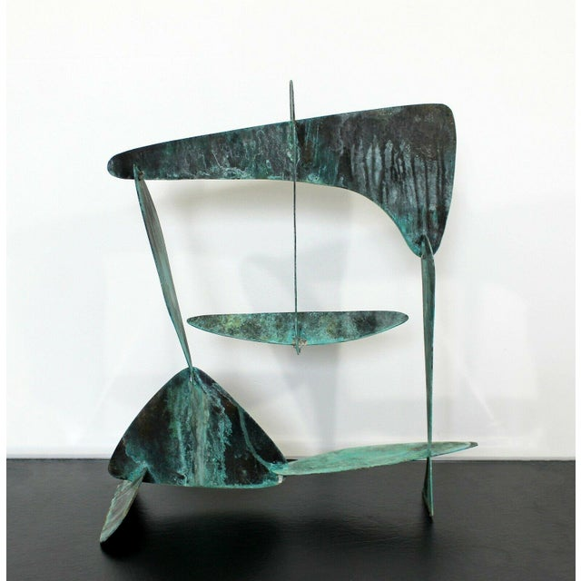 Mid Century Modern Brutalist Copper Metal Abstract Table Sculpture 1970s For Sale In Detroit - Image 6 of 7