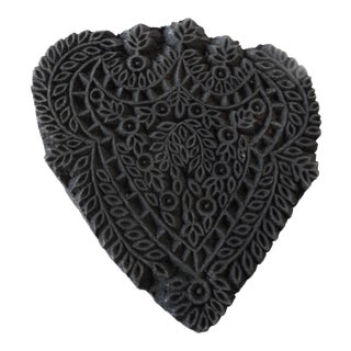 Heart Shaped Printing Textile wood block India For Sale