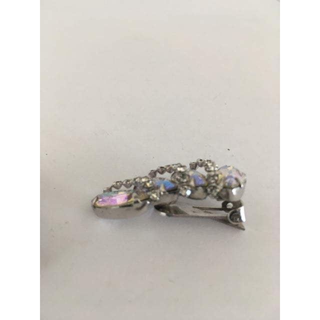 1950s Vintage Weiss Rhinestone Clips - a Pair For Sale - Image 5 of 11