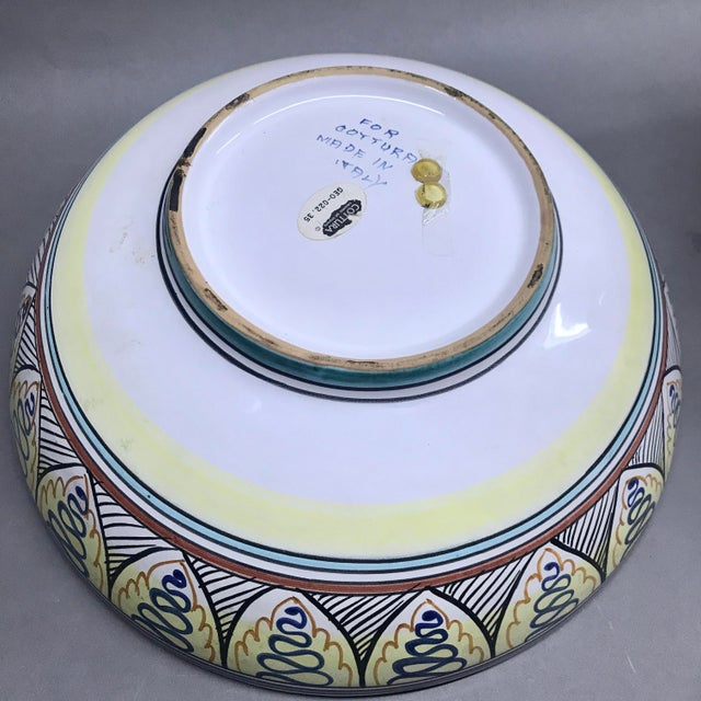 Italian Blue Cottura Ceramic Decorative Bowl For Sale - Image 4 of 5