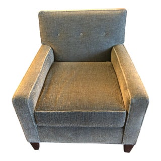Modern Mitchell Gold and Bob Williams Green Fabric Custom Made Club Chair For Sale