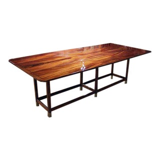 French Mahogany Drop Leaf Dining Table For Sale