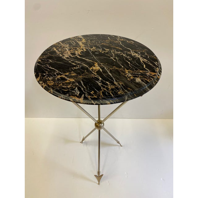 1970s Maison Jansen Style Arrow Motife Side Table For Sale - Image 5 of 13