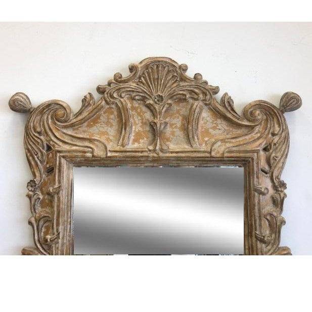 Available for sale: This substantial hand carved wood mirror, in the Neoclassical Italian style. The craftmanship on this...