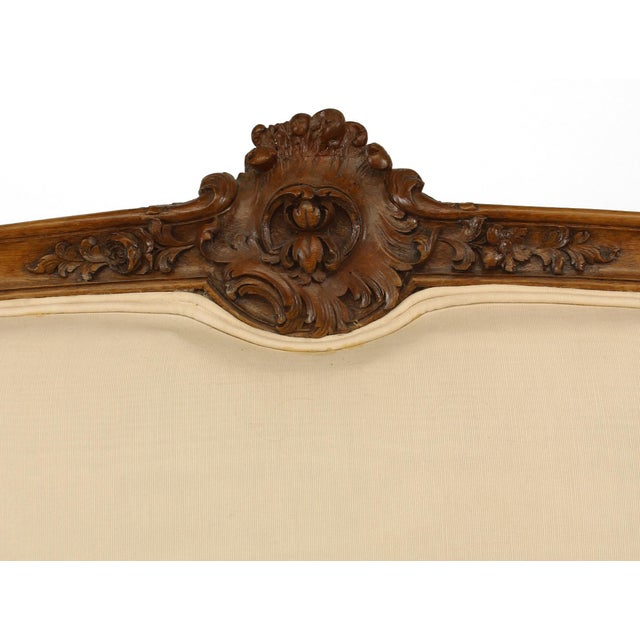 French Louis XV Walnut Settee For Sale - Image 4 of 7