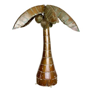Large Sculptural Regency Metal Palm Tree For Sale