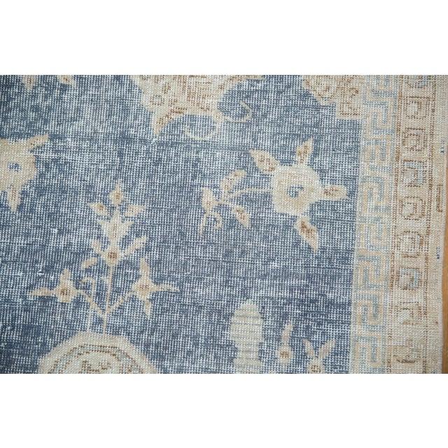 "Vintage Distressed Fragment Sparta Carpet - 5'7"" X 9'1"" For Sale - Image 9 of 11"