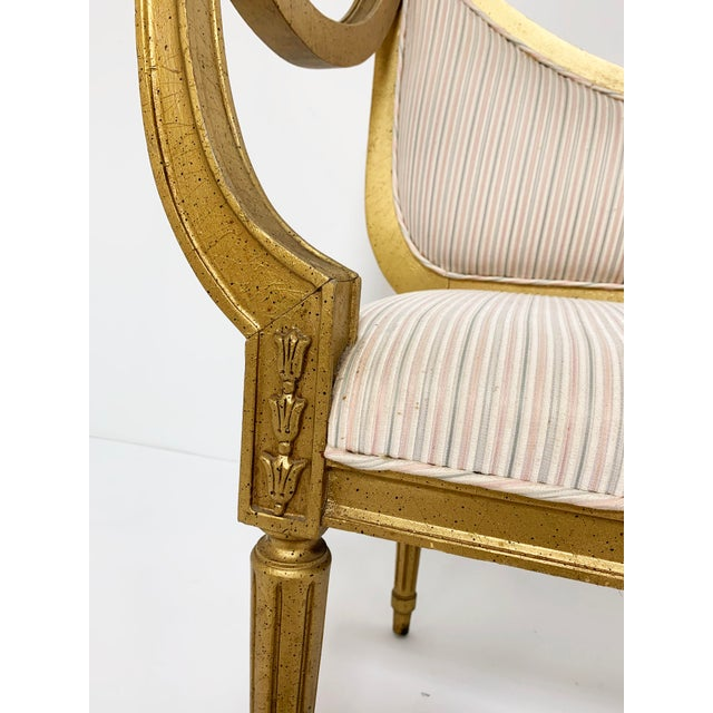 Mid-Century Giltwood Settee in the Neoclassical Style For Sale - Image 4 of 11