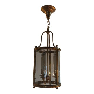Beautiful Gilt Brass and Glass Lantern For Sale