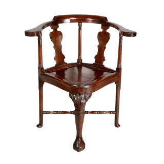 Chinese Export Hardwood Corner Chair For Sale