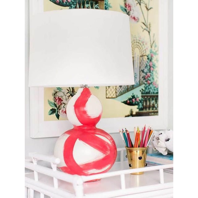 Brushstroke table lamp in coral chairish for Table coral sample