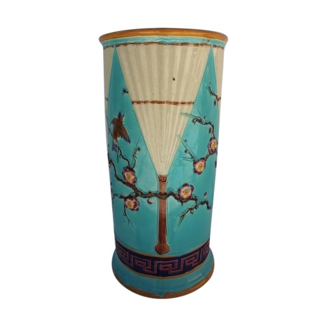 Vintage Hand Painted Ceramic Umbrella Stand - Image 1 of 8