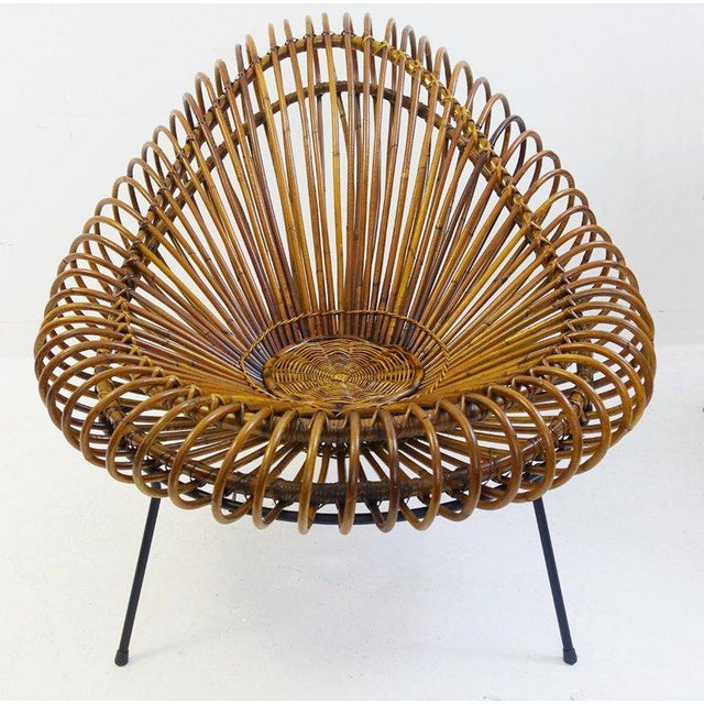 Mid 20th Century Sculptural Rattan Lounge Chair by Franco Albini For Sale - Image 5 of 8