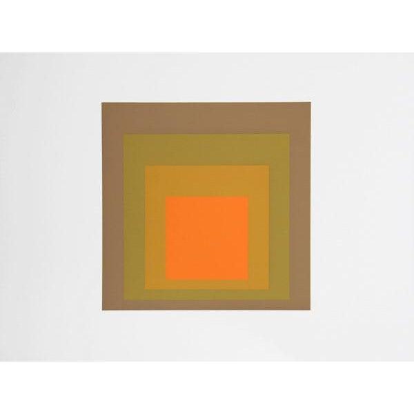Abstract Expressionism Josef Albers - Portfolio 2, Folder 19, Image 2 Framed Silkscreen For Sale - Image 3 of 4