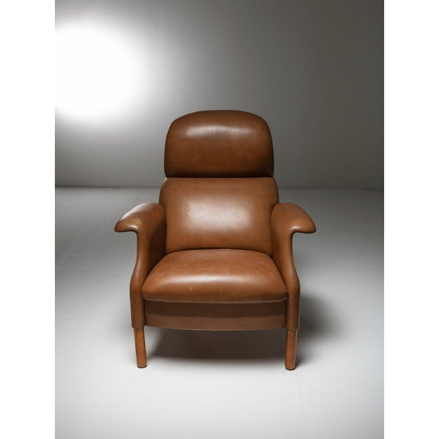 """Sanluca"" Leather Lounge Chairs by Castiglioni for Gavina For Sale - Image 6 of 8"