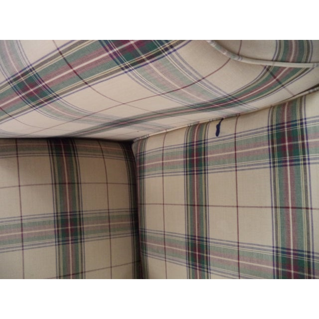 Textile Paul Robert Chippendale Style Camelback Sofa For Sale - Image 7 of 9