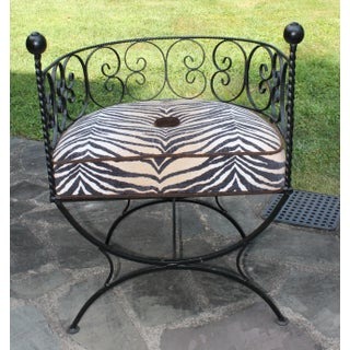 Wrought Iron Barrel Back Chairs - a Pair Preview