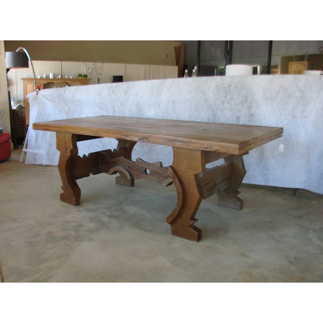Mexican Oak Dining Table - Image 5 of 8
