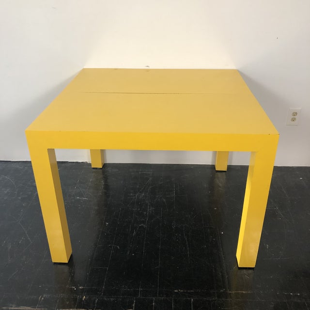 Mid-Century Modern 1960s Milo Baughman Thayer Coggin Parsons Yellow Dining Table For Sale - Image 3 of 5